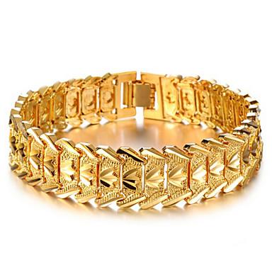 Buy Men's/Women's 18K Gold Plated Chain Non Stone Bracelet