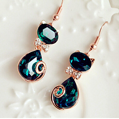 """""""New Arrival Hot Selling High Quality Gem Lucky Cat Earrings """""""