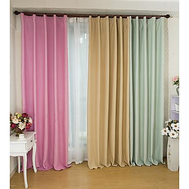 deux panneaux le traitement de fen tre moderne salle de s jour polyester mat riel rideaux. Black Bedroom Furniture Sets. Home Design Ideas