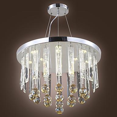 Metal l mparas ara a cristal led moderno for Lamparas estilo contemporaneo