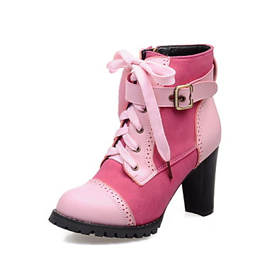 s shoes chunky heel fashion boots toe boots