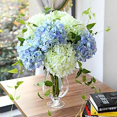 Buy 27.6 inch Artificial Hydrangea Silk Floral Decor (More Colors)
