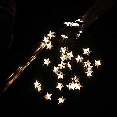 Star String Lights Outdoor : Solar String 6.5M 30LED Lights BlingBling Star Shape String Lights Waterproof Outdoor Lights ...