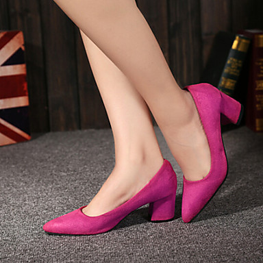 s shoes fashion pointed toe chunky heel heels