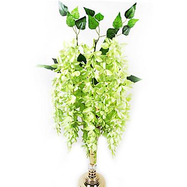 3 cabezas de corta chlorophytum en tela de seda de flores - Plantas artificiales para decoracion ...