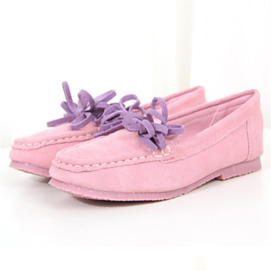 s shoes low heel toe loafers casual black pink