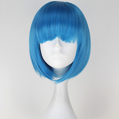 Buy Cosplay Wigs Blue Short Anime 30 CM Heat Resistant Fiber Female