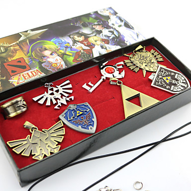 Buy Jewelry Inspired Legend Zelda Cosplay Anime/ Video Games Accessories Necklace / Brooch Silver Alloy Male Female