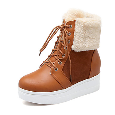 Womenu0026#39;s Shoes Boots Spring/Fall/Winter Wedges/Heels/Platform/Snow Boots/Fashion Boots/Round Toe ...