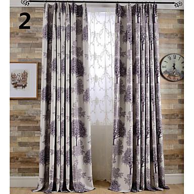 Impression rideaux occultants arbre deux couleurs rideau - Rideaux photo impression ...