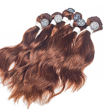 Buy Natural Wave Virgin Hair Extensions Top Grade #4 Indian Human Weaves 2x10 inch, 2x12 2x14 inch 200g/Set