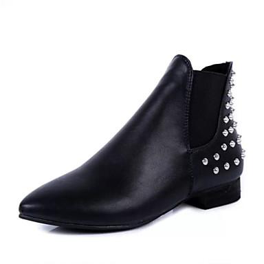 Zapatos de mujer tac n bajo punta redonda botas - Botas de trabajo ...