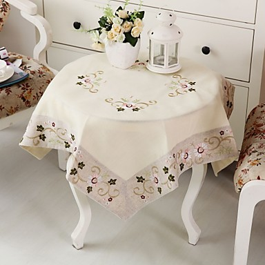 Embroidery classical cotton tablecloth christmas for 85 inch tablecloths
