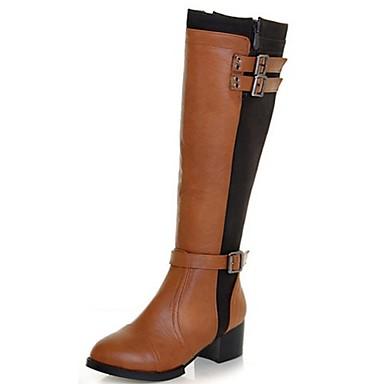 Zapatos de mujer tac n bajo botas a la moda botas - Botas de trabajo ...
