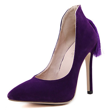 s shoes fleece stiletto heel pointed toe heels