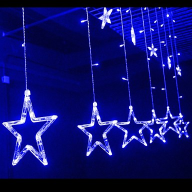 Star String Lights For Bedroom : Star Window Curtain With Tail Plug String Lights Used For Outdoor/Holiday/Bedroom/Birthday Party ...