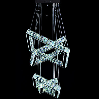square crystal pendant light fixtures modern led chandeliers lighting