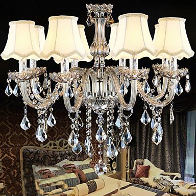 Buy K9 Transparent Christmas Crystal Candle Chandelier 8 Lights