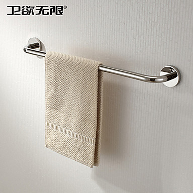 Buy Towel Bar Stainless Steel Wall Mounted 600x120x60mm (23.6x4.72x2.36 inch) Contemporary