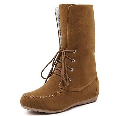 Zapatos de mujer tac n plano botas a la moda botas - Botas de trabajo ...