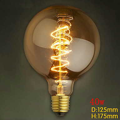 G125 Wire Around 40w Bulb Edison Bulbs Bar Pearl Tungsten Bulb Edison Light Bulb Retro