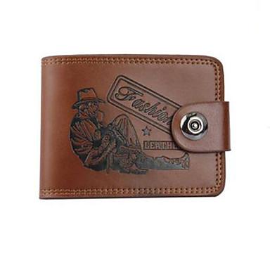 Men PU / Cowhide Bi-fold Wallet / Clip
