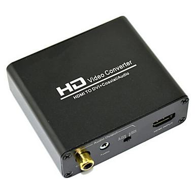 hd video converter hdmi to dvi coaxial audio converter 2 1ch 5 1ch channel 720p 1080p audio. Black Bedroom Furniture Sets. Home Design Ideas