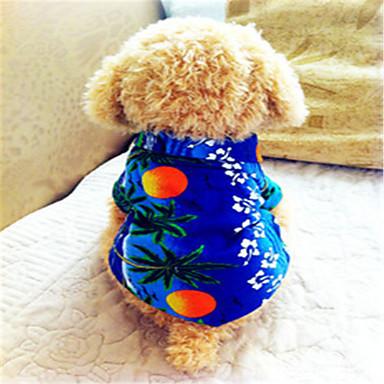 Buy Dog Shirt / T-Shirt Clothes/Clothing Blue Summer Vacation Fashion