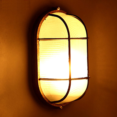 Buy E27 28*16CM 5-10㎡ Creative Personality Restoring Ancient Ways Glass Wall LampLed Lights