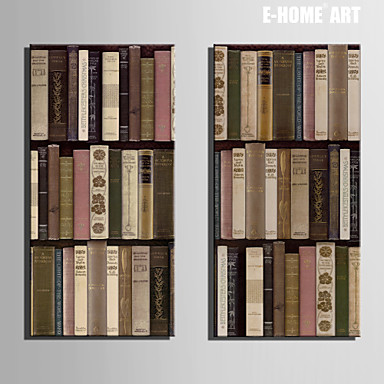 Buy E-HOME® Stretched Canvas Art Bookshelf Decoration Painting Set 2