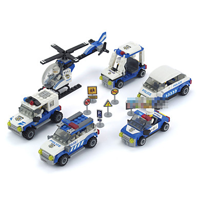Buy 6piece/lot Patrol Model Building Blocks Boys Toys Assembly Enlighten Bricks Children Plastic