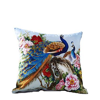 3D Design Print Blue Peacock Decorative Throw Pillow Case Cushion Cover for Sofa Home Decor ...