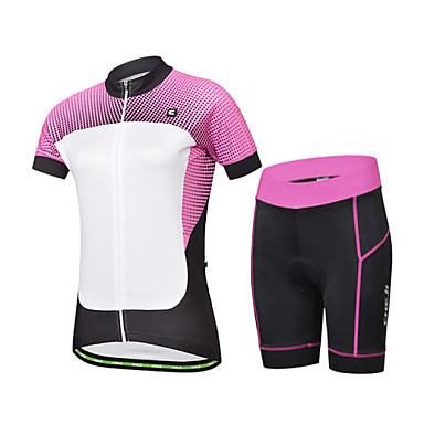 Buy CHEJI Summer Women's Short Sleeve Bicycle Cycling Jersey 3D Pad Pant