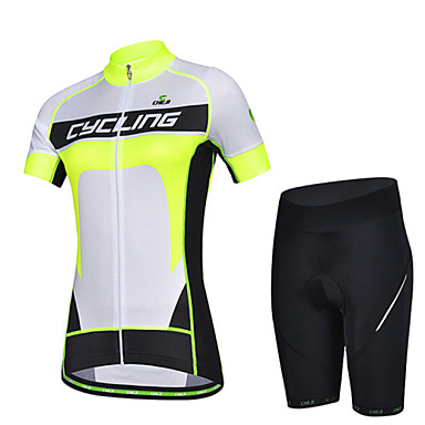 Buy CHEJI Summer Women's Breathable Short Sleeve Bicycle Cycling Jersey 3D Pad Pant