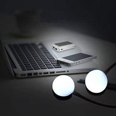 New 5W 5V 450Lumens 3000K/6000K Warm White/Cool White Light USB LED Light Bulb Magnetic & Cable(DC5V)