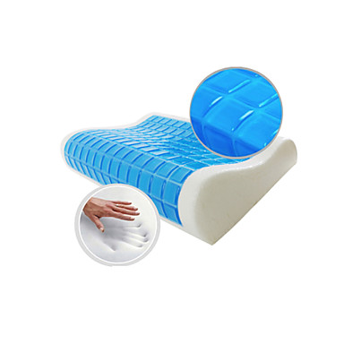 Buy Pillow Massager Memory Foam Summer Cool Wave Healthy 100% Protect Neck Home Textile Space 55*35*11/9cm