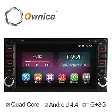 Buy 6.95 Inch 2 Din In-Dash Car DVD Player Toyota Universal Quad Core CPU Pure Android 4.4.2 GPS Navigation Radio