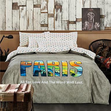 Vendita calda copripiumino grigio biancheria da letto di parigi jogo de cama di alta qualit - Biancheria da letto vendita on line ...