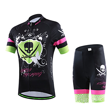 Buy CHEJI Biking Comfortable Breathable Short-sleeve Cycling Jersey & Pant 3D Padd