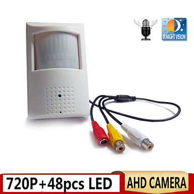 Buy 720P AHD Camera Night Vision 0.0001 Low Lux PIR Motion Detector Shape CCTV Security