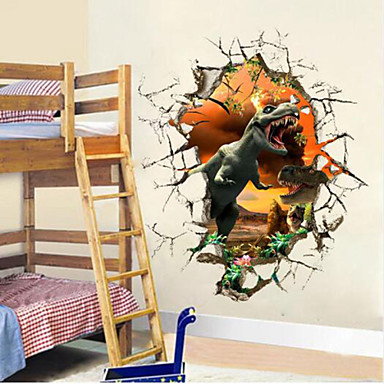3d dinosaur wall stickers decals for kids rooms art for for 3d baby room design