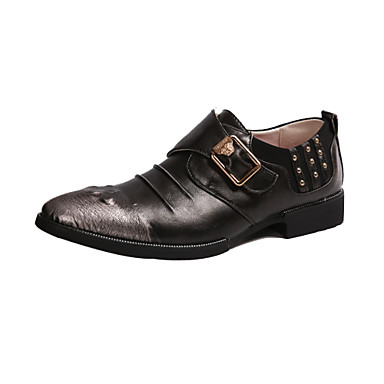 s casual leather oxfords shoes business shoes slip on