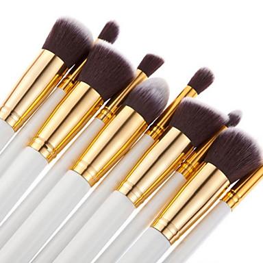 10pcs professional makeup brushes set pink/white/black