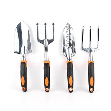 Garden tools 4 piece tool set includes trowel cultivator for Garden trowel and fork set