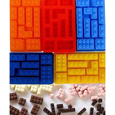 Building Block Style Bricks Ice Cream Cube Maker Silicone