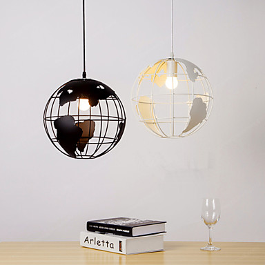 Max 60w modern contemporary country globe pendant for Dining room globe lighting
