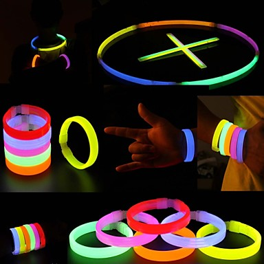 Buy Glowstick Party Activities Luminous Ornaments Bracelet Red Yellow Multicolor