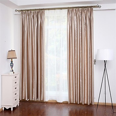 Curtains Ideas bedroom drapes and curtains : Two Panels Curtain Neoclassical , Solid Bedroom Polyester Material ...