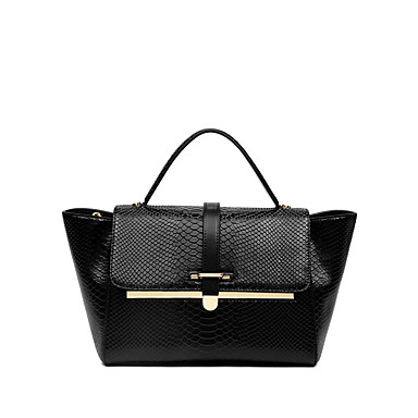 Buy NAWO Women Cowhide Tote Black-N152251