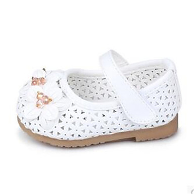 baby shoes dress casual pu flats pink white gold